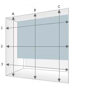 prise de mesures pour la pose de stores en bois stores cube. Black Bedroom Furniture Sets. Home Design Ideas