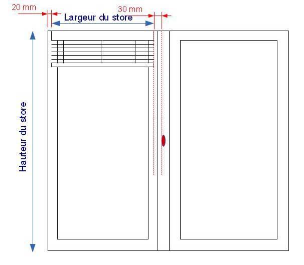Prise de mesures pour la pose sur battants de stores en for Prise de mesure fenetre